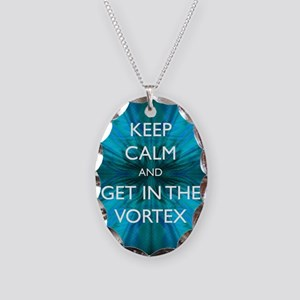 Keep Calm & Get in the Vortex Necklace Oval Charm