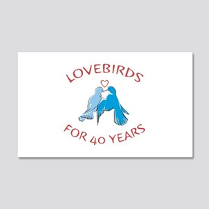 40th Anniversary Lovebirds 20x12 Wall Decal