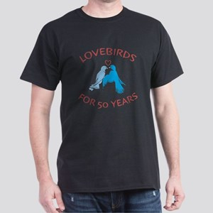 50th Anniversary Lovebirds Dark T-Shirt