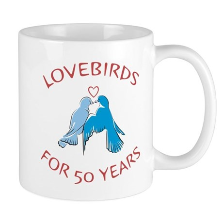50th Anniversary Lovebirds Mug