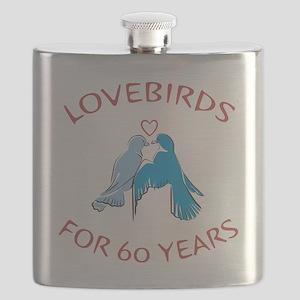 60th Anniversary Lovebirds Flask
