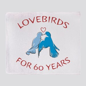 60th Anniversary Lovebirds Throw Blanket