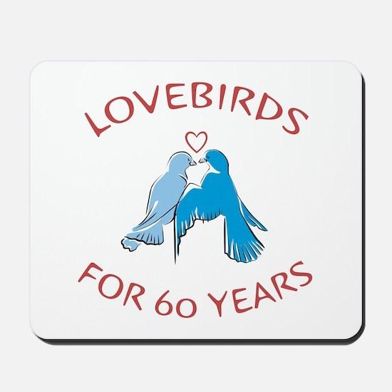 60th Anniversary Lovebirds Mousepad