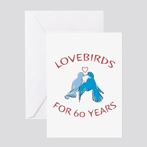 60th anniversary greeting cards cafepress 60th anniversary lovebirds greeting card m4hsunfo