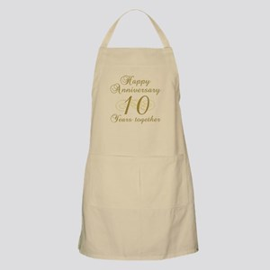 10th Anniversary (Gold Script) Apron