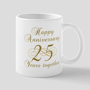 25th Anniversary (Gold Script) Mug