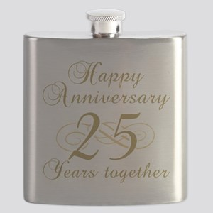 25th Anniversary (Gold Script) Flask