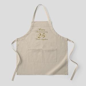 25th Anniversary (Gold Script) Apron