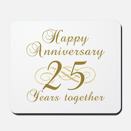 25th Anniversary (Gold Script) Mousepad