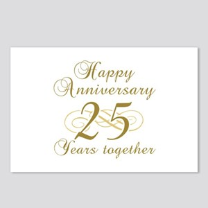 25th Anniversary (Gold Script) Postcards (Package
