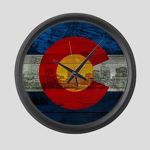 Colorado Flag Large Wall Clock