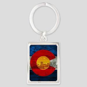 Colorado Flag Portrait Keychain