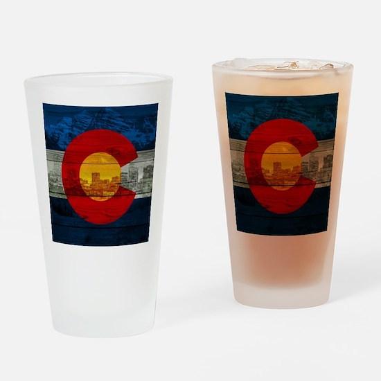 Colorado Flag Drinking Glass