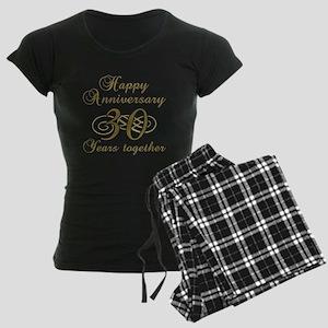 30th Anniversary (Gold Script) Women's Dark Pajama