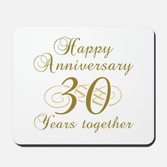 30th Anniversary (Gold Script) Mousepad