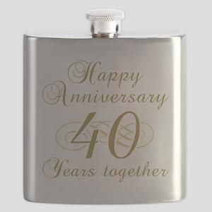 40th Anniversary (Gold Script) Flask