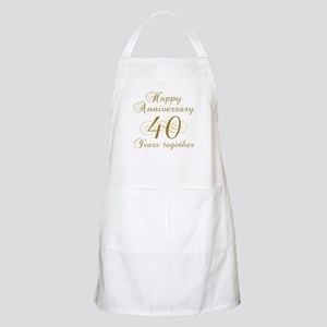 40th Anniversary (Gold Script) Apron