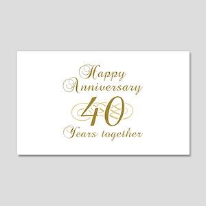 40th Anniversary (Gold Script) 20x12 Wall Decal