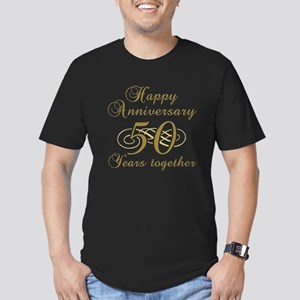 50th Anniversary (Gold Script) Men's Fitted T-Shir