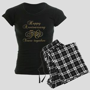 50th Anniversary (Gold Script) Women's Dark Pajama