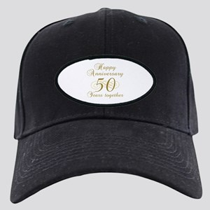 50th Anniversary (Gold Script) Black Cap