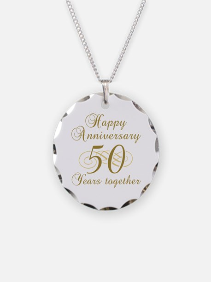 50th Anniversary (Gold Script) Necklace