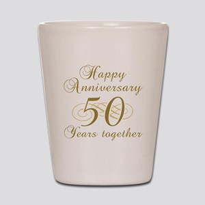 50th Anniversary (Gold Script) Shot Glass