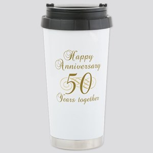 50th Anniversary (Gold Script) Stainless Steel Tra