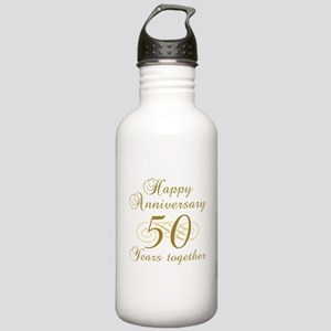 50th Anniversary (Gold Script) Stainless Water Bot