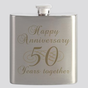50th Anniversary (Gold Script) Flask