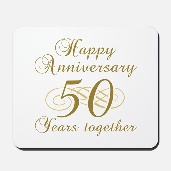 50th Anniversary (Gold Script) Mousepad