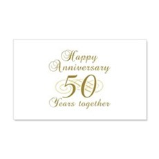 50th Anniversary (Gold Script) Wall Decal