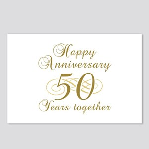50th Anniversary (Gold Script) Postcards (Package
