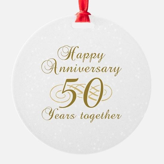 50th Anniversary (Gold Script) Ornament