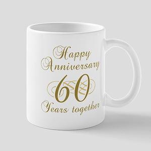 60th Anniversary (Gold Script) Mug