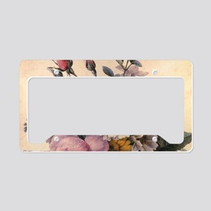 vintage botanical art, beauti License Plate Holder
