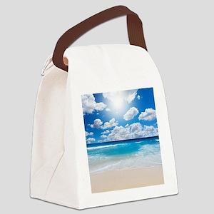 Sunny Beach Canvas Lunch Bag