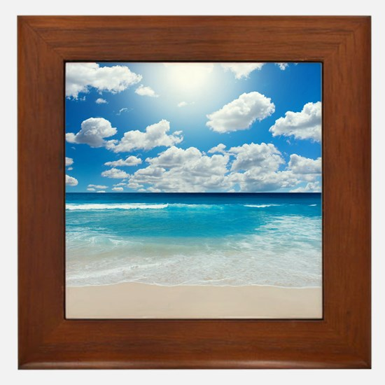Sunny Beach Framed Tile