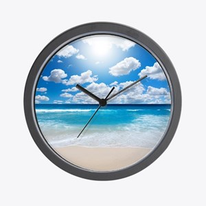 Sunny Beach Wall Clock