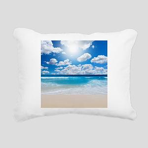 Sunny Beach Rectangular Canvas Pillow