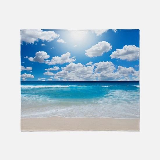 Sunny Beach Throw Blanket