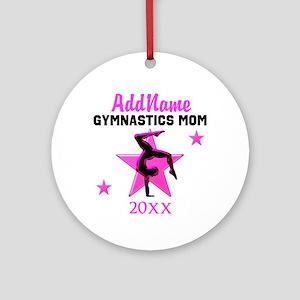TOP GYMNAST MOM Ornament (Round)