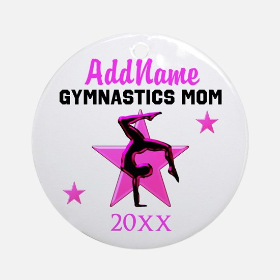 TOP GYMNAST MOM Ornament (Round)