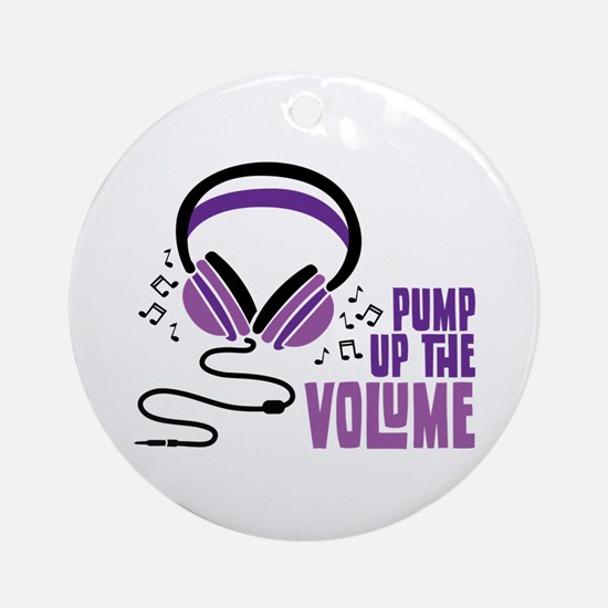Pump Up the Volume Ornament (Round)