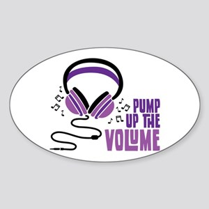 Pump Up the Volume Sticker