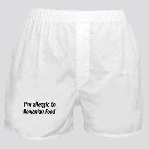Allergic to Romanian Food Boxer Shorts