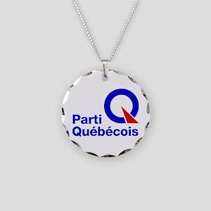 Parti Quebecois Necklace Circle Charm