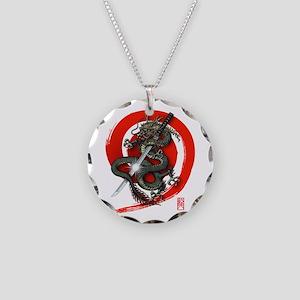 Dragon Katana4 Necklace Circle Charm