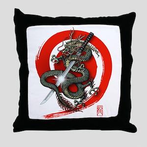 Dragon Katana4 Throw Pillow