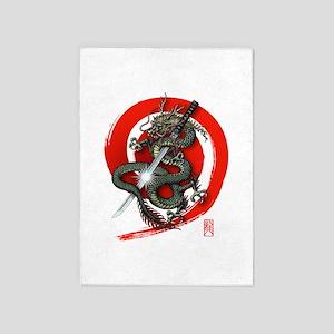 Dragon Katana4 5'x7'Area Rug